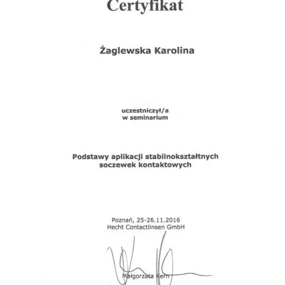 Soczewki stabilnokształtne 2016